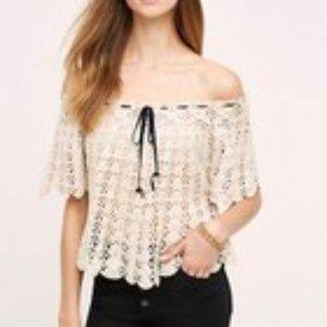 Anthropologie KOROVILAS Wallace Crochet Top M